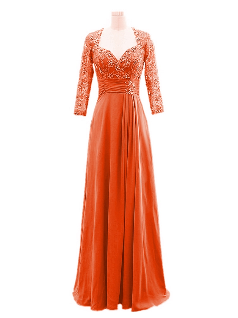 Ericdress Lace Sequins Long Sleeve Mother of the Bride Dress