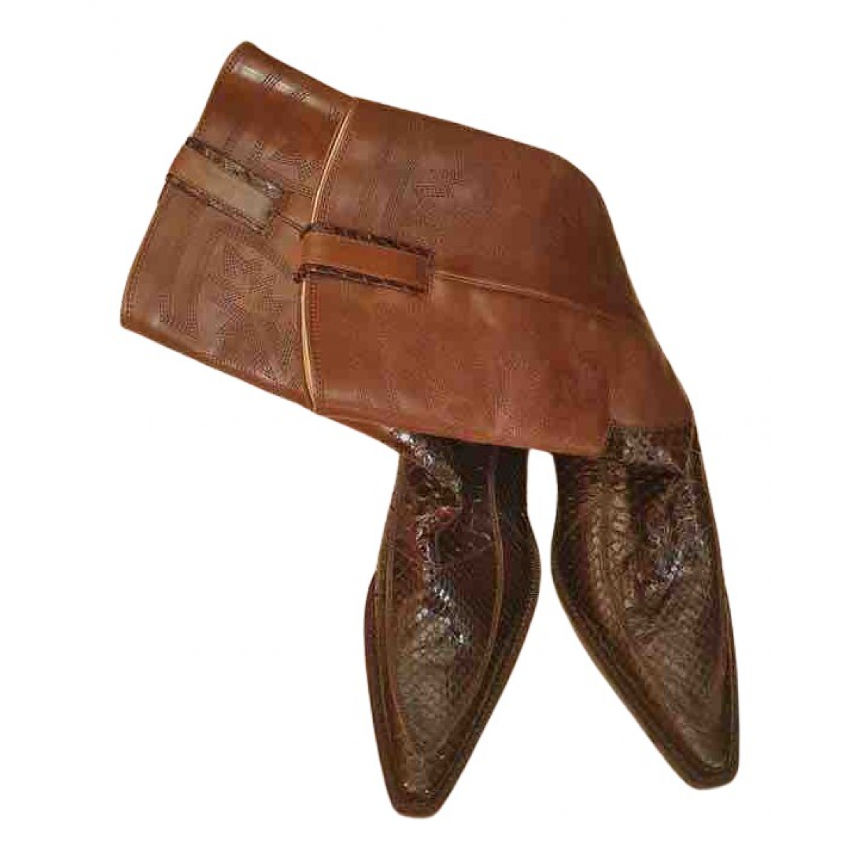 Dolce & Gabbana N Brown Leather Boots for Women 4 UK