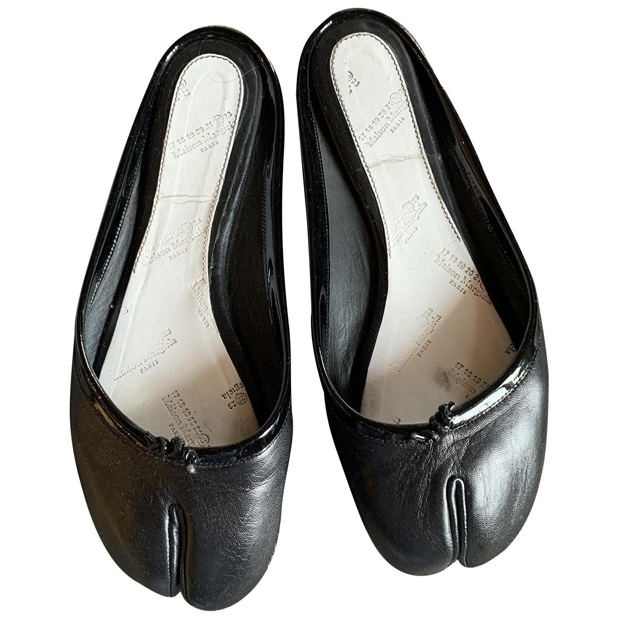 Maison Martin Margiela \N Ballerinas in  Schwarz Leder