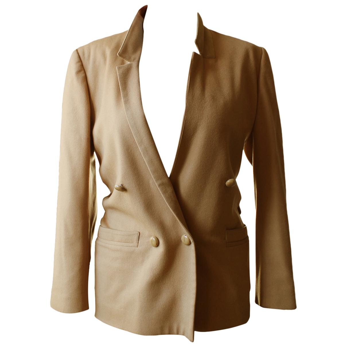 Gianni Versace \N Beige Wool jacket for Women 40 IT
