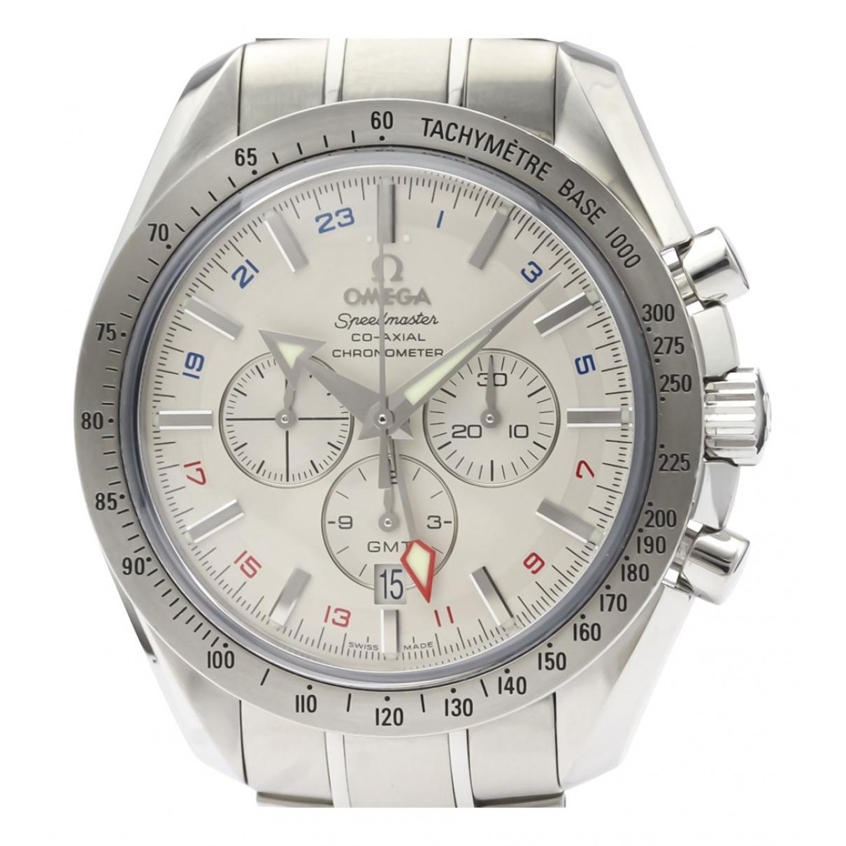 Omega Speedmaster Silver Steel watch for Men N