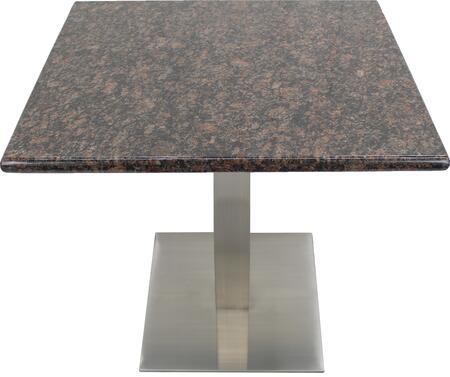 G215 36X36-SS05-23H 36x36 Tan Brown Granite Tabletop with 23