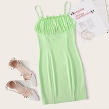 Frill Detail Ruched Bust Dress