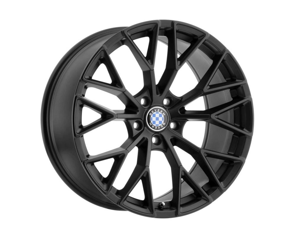 Beyern Antler Wheel 20x9 5x120 20mm  Double Black - Matte Black w/ Gloss Black Face