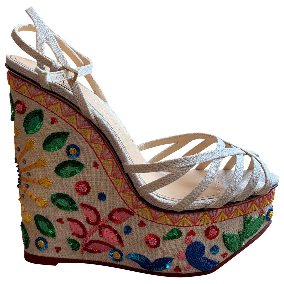 Charlotte Olympia \N Beige Sandals for Women 38 EU