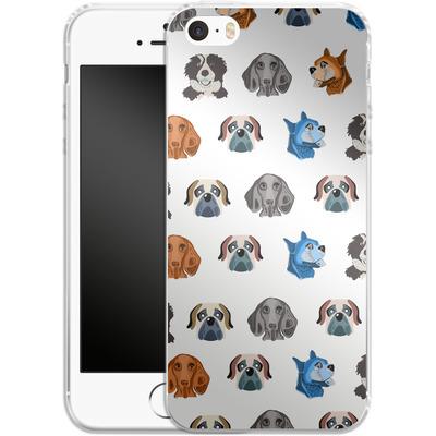 Apple iPhone SE Silikon Handyhuelle - Dog Love von Mukta Lata Barua