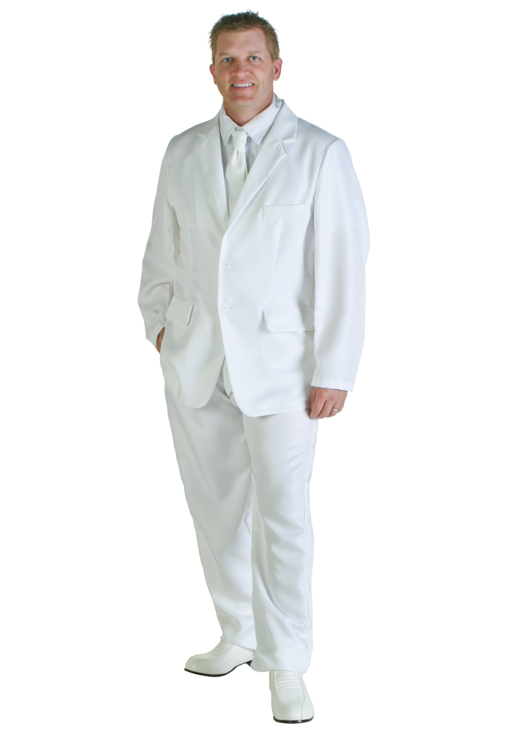 White Costume Suit for Men | 1920s Mobster Costume