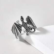 Maenner Ring mit Drache Design