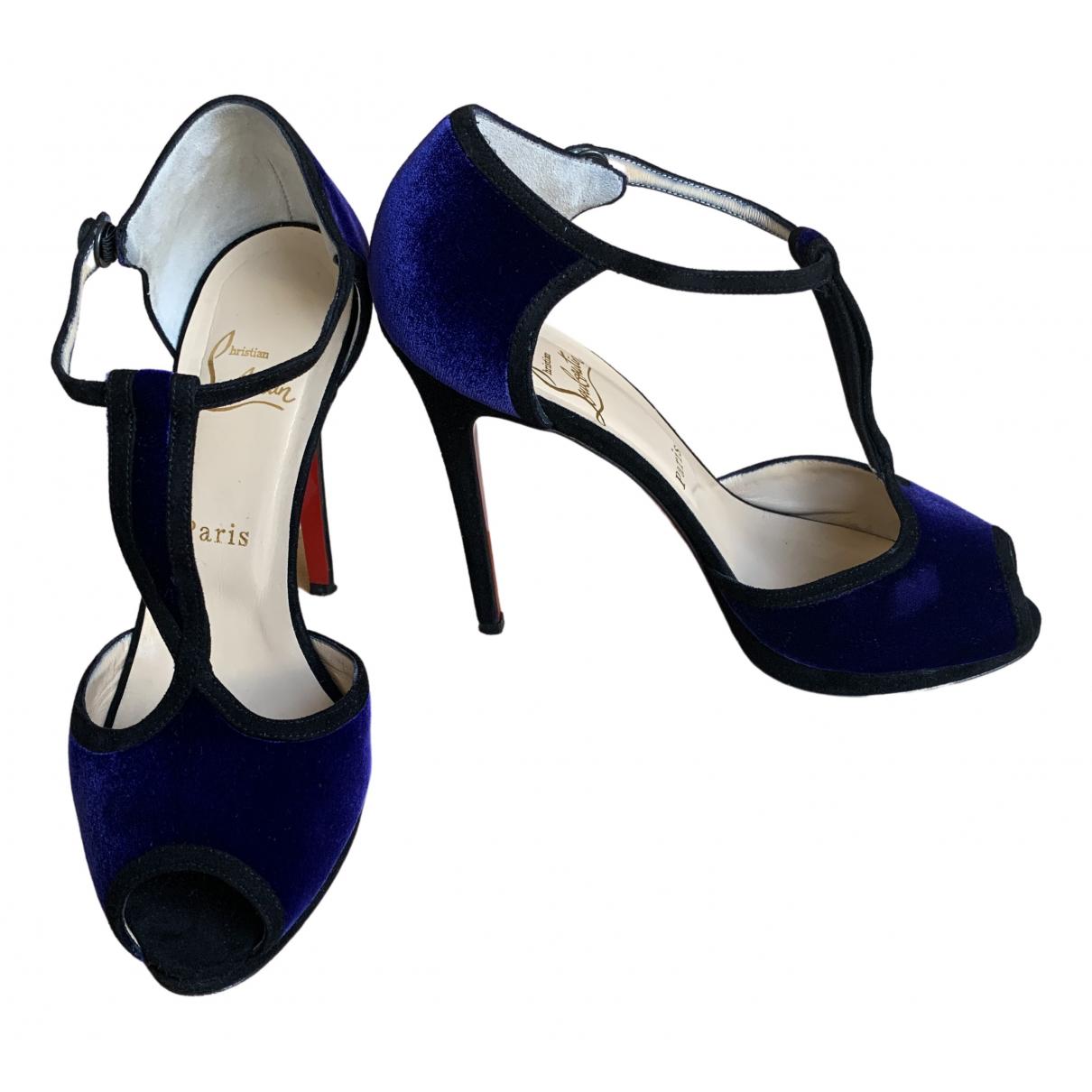 Christian Louboutin \N Purple Velvet Sandals for Women 38 EU
