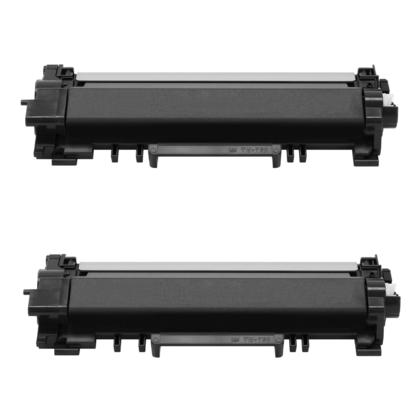 Compatible Brother TN760 Black Toner Cartridge High Yield - No Chip - Economical Box - 2/Pack