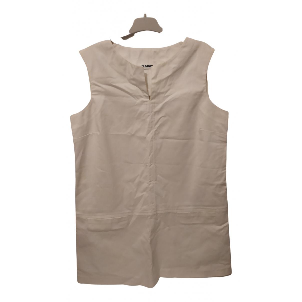 Jil Sander \N Kleid in  Weiss Baumwolle