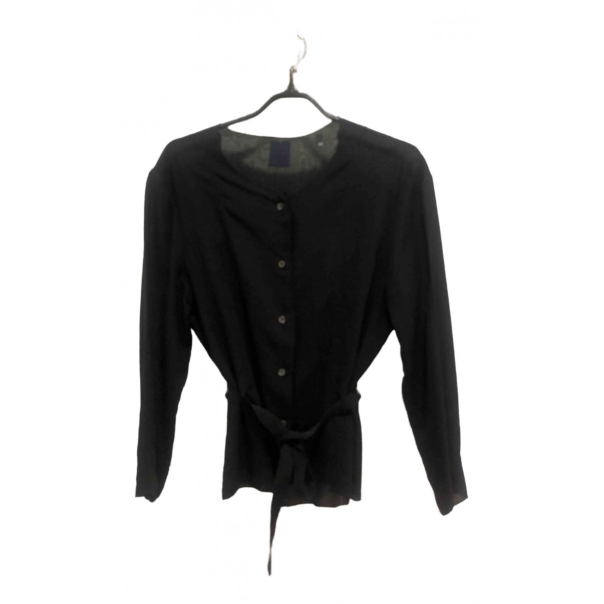 Aspesi \N Black Silk  top for Women 42 FR