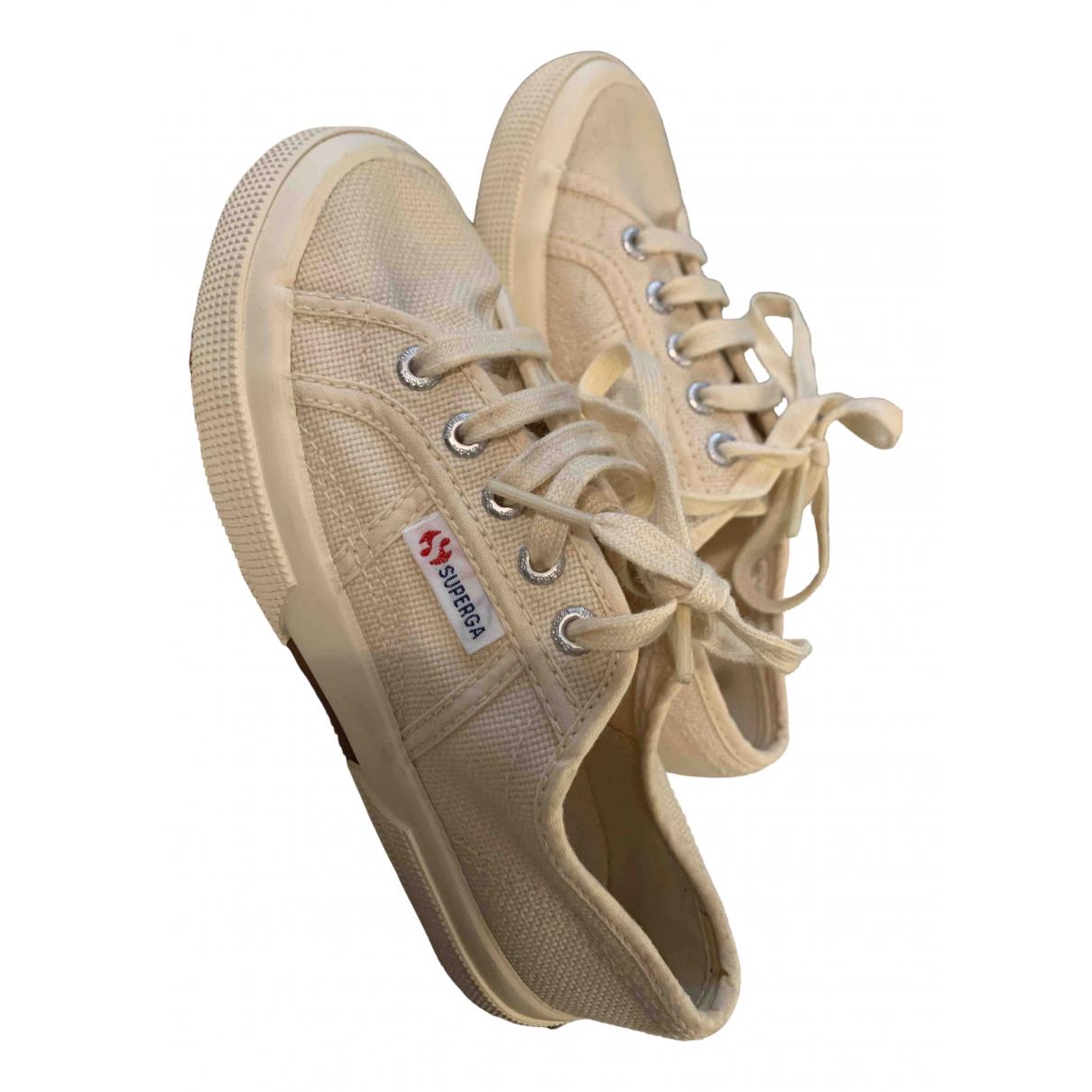 Superga \N Sneakers in  Beige Leinen