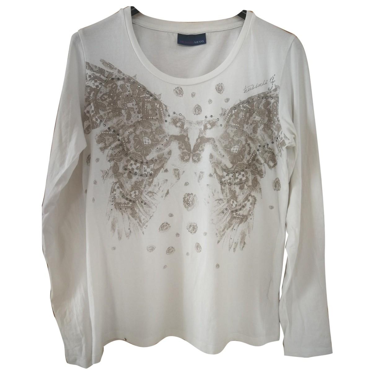 Trussardi Jeans \N White Cotton Knitwear for Women 42 FR