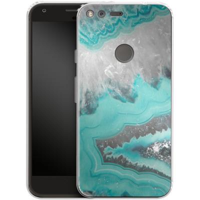 Google Pixel XL Silikon Handyhuelle - Water Agate von Emanuela Carratoni