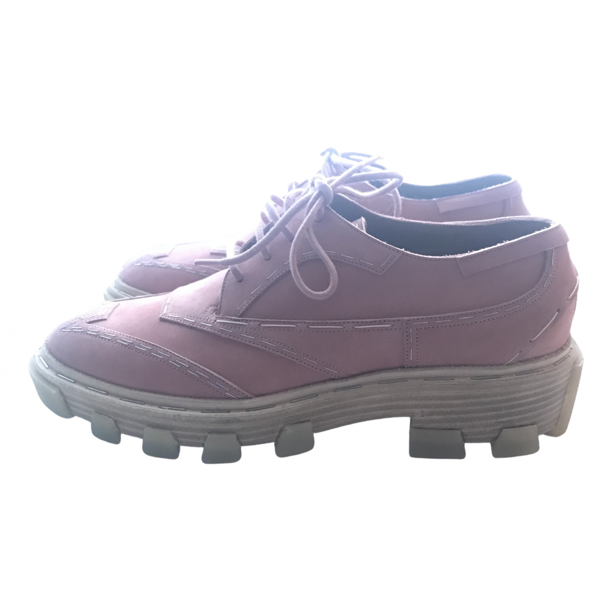 Balenciaga \N Pink Leather Lace ups for Women 38 EU