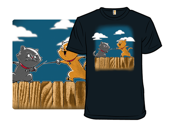 Fencing Cats On A Fence T Shirt