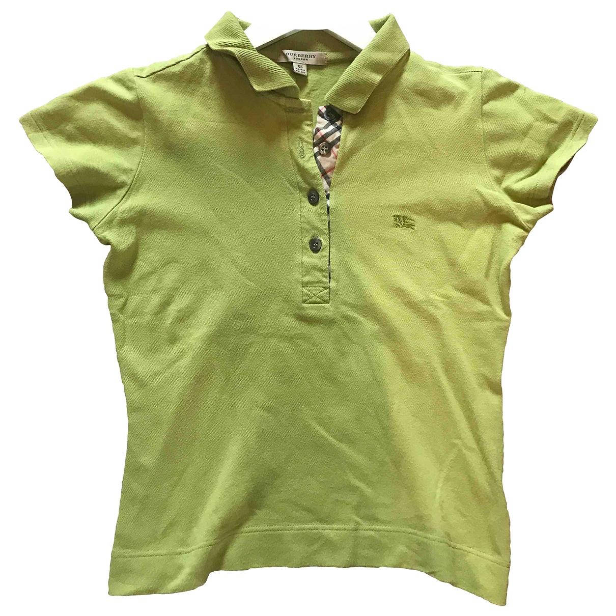 Burberry - Top   pour femme en coton - vert