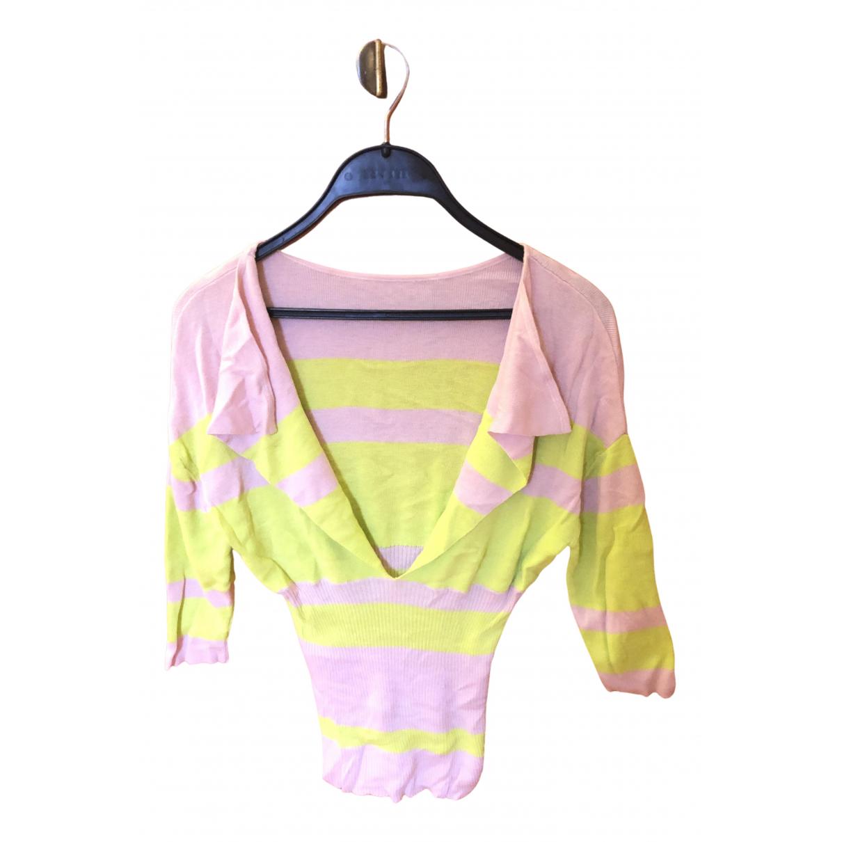 - Pull   pour femme en soie - rose