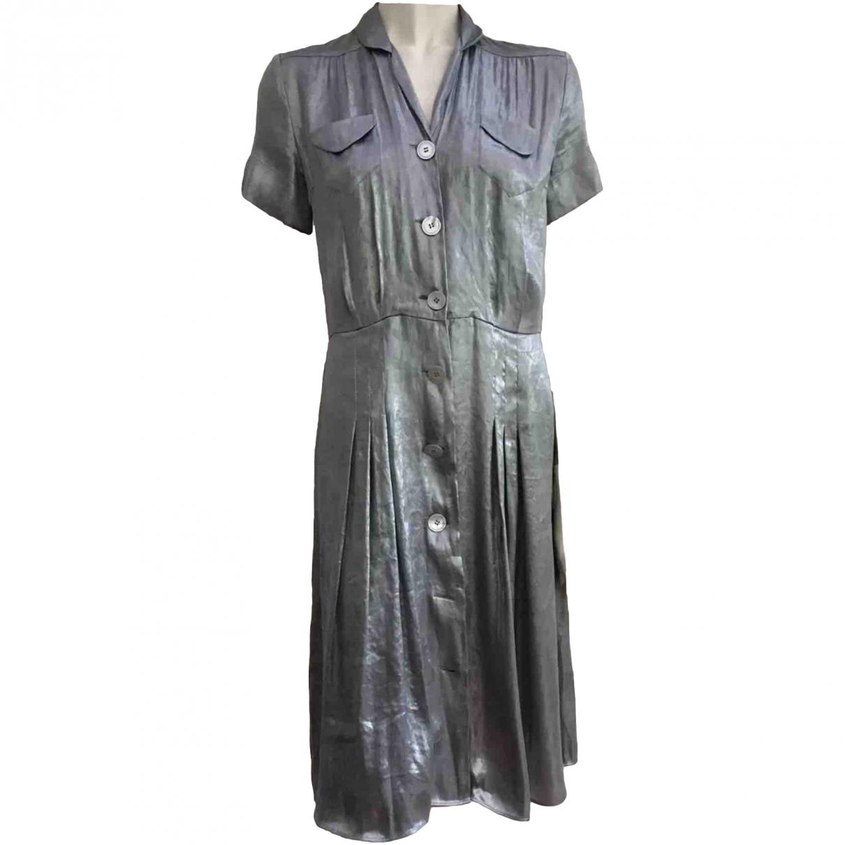 Ralph Lauren Collection \N Silver Silk dress for Women 4 US