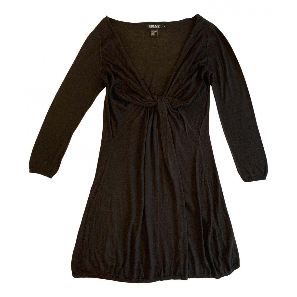 Dkny \N Kleid in  Braun Wolle