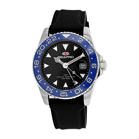Sea-Pro Mens Black Strap Watch-Sp0122, One Size , No Color Family