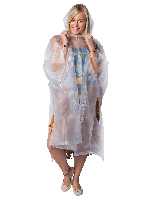 Kostuemzubehor Regenponcho Erwachsene Farbe: weiss