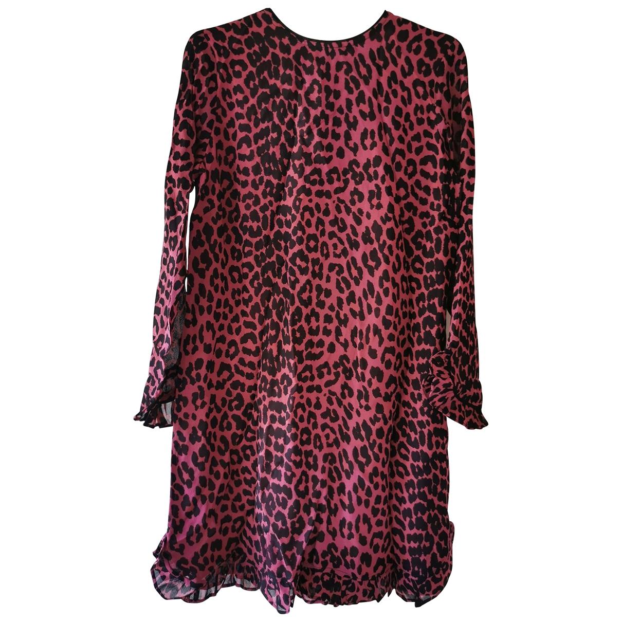Ganni \N Kleid in  Rosa Viskose