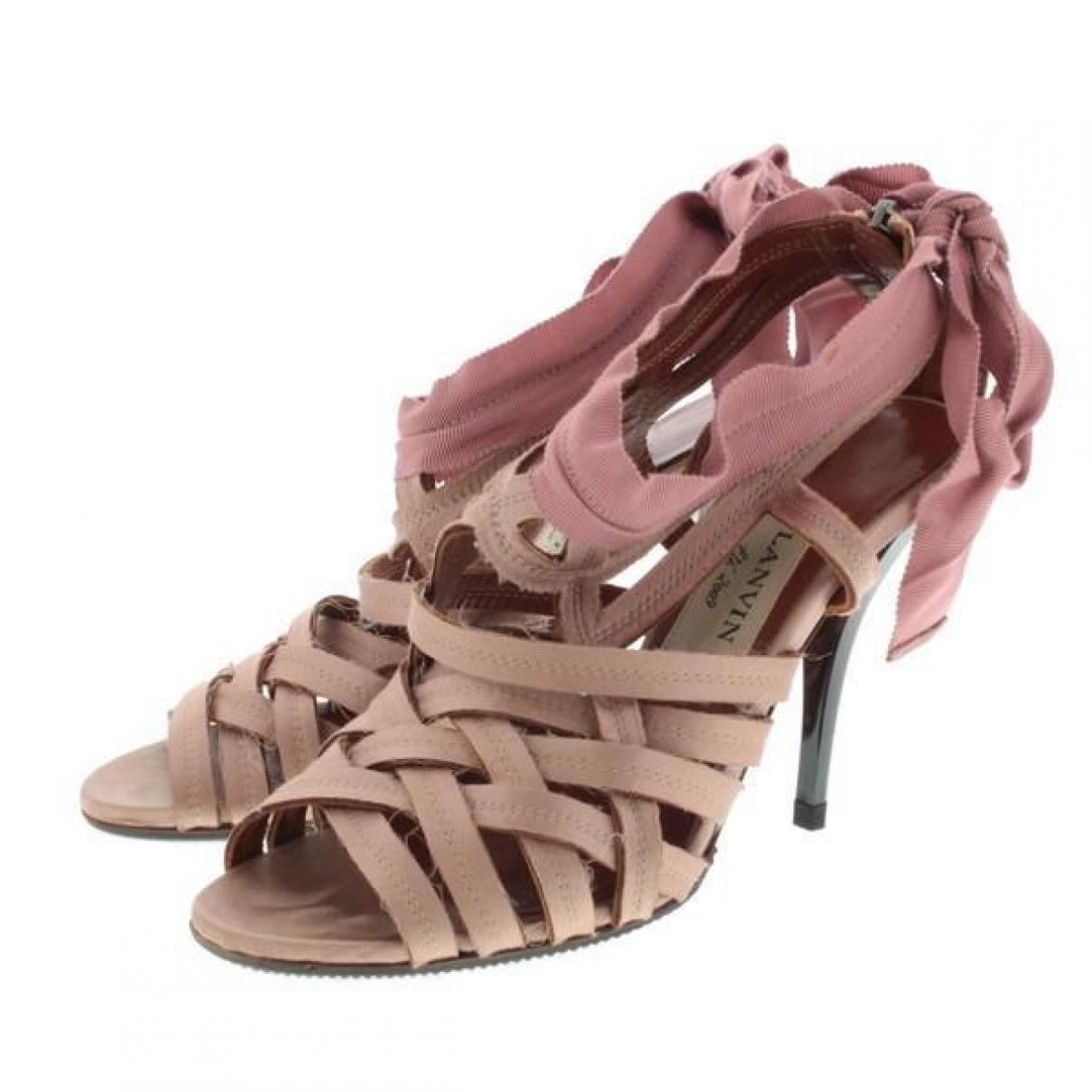 Lanvin - Sandales   pour femme en toile - rose