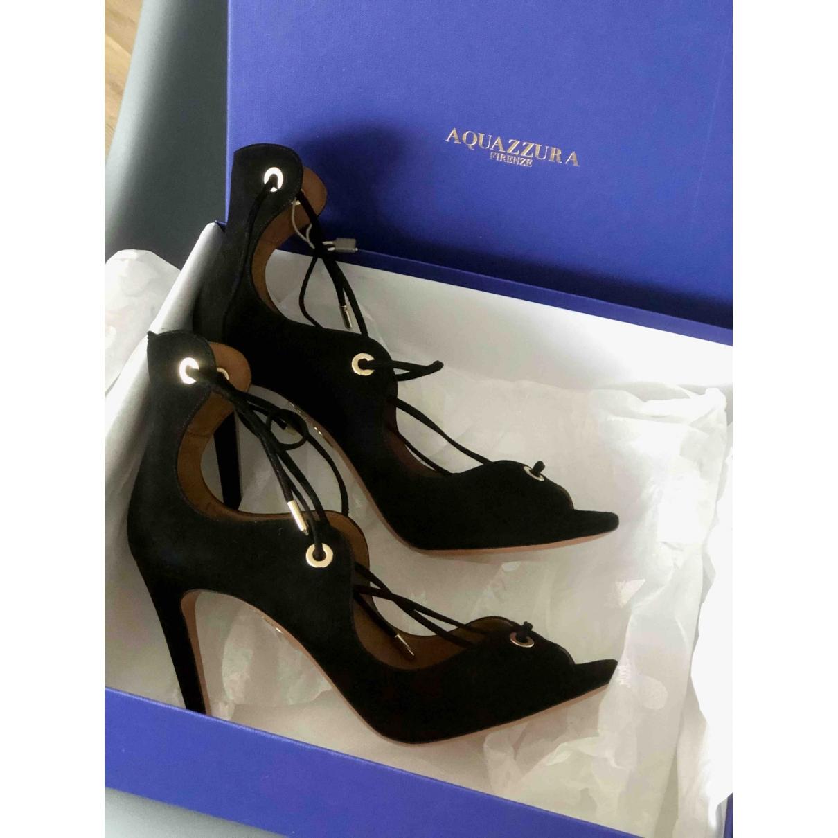 Aquazzura \N Black Suede Sandals for Women 38.5 EU