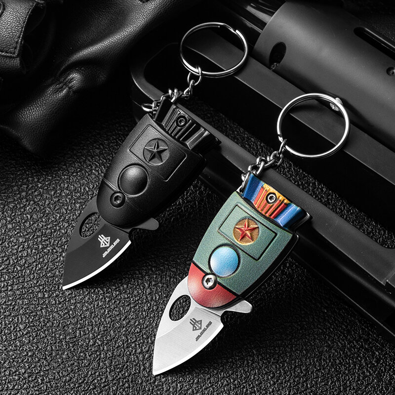 New Arrivals Mini Pocket Rocket Folding KnIife Keychain CS Go KnIives Hunting Military KnIives Weaponss Survival Tool Fo