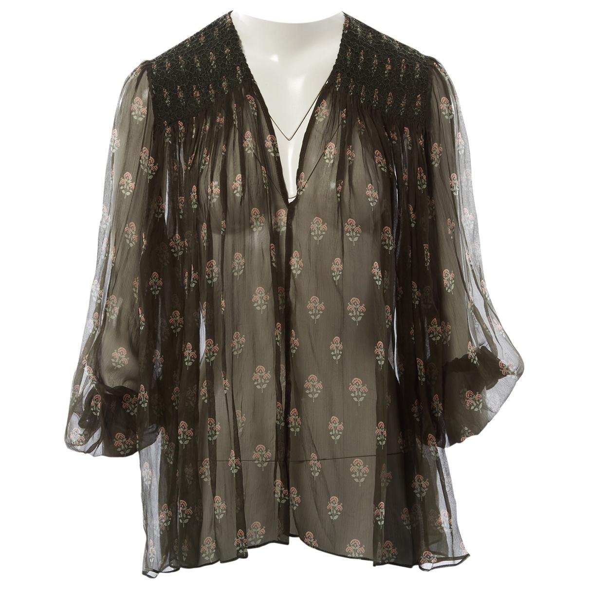 Zimmermann \N Khaki Silk  top for Women M International