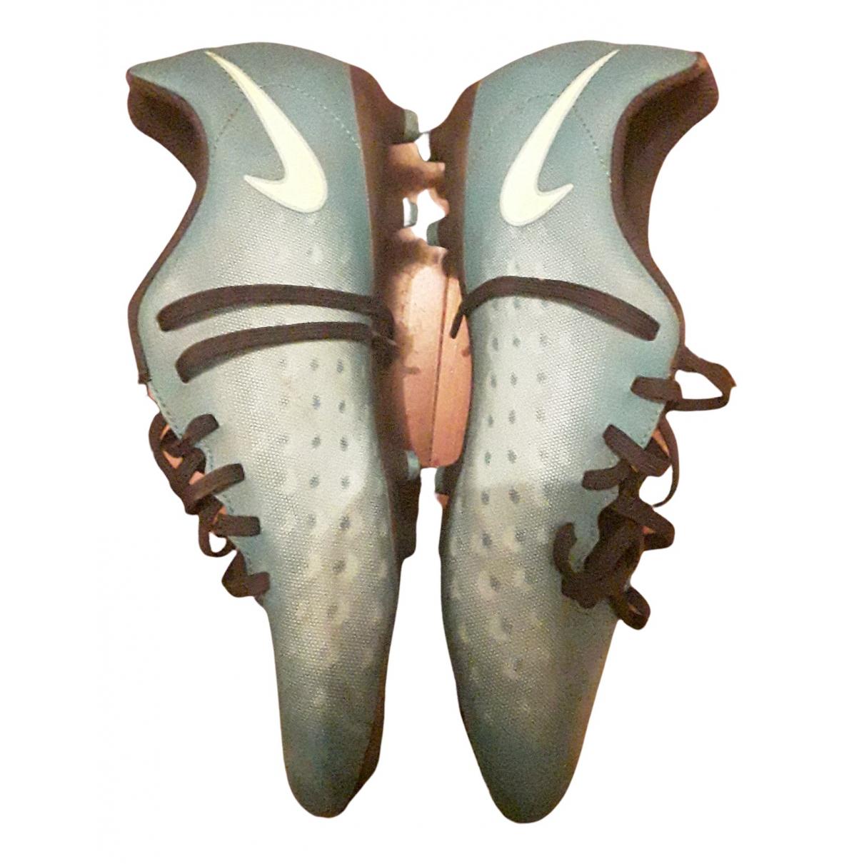 Nike N Green Leather Trainers for Men 40.5 EU
