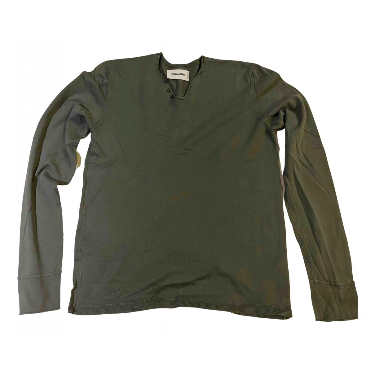Zadig & Voltaire \N Khaki Cotton Knitwear & Sweatshirts for Men XS International