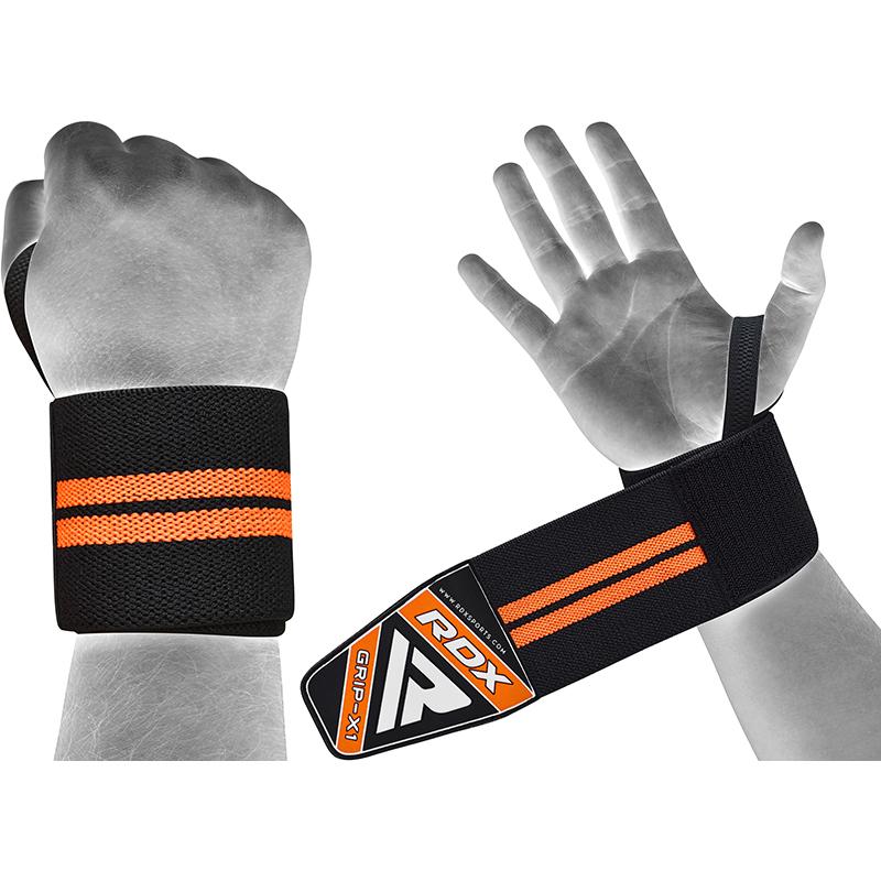 RDX W3 19 Inch Protege Poignet de Musculation  Noir-orange Coton