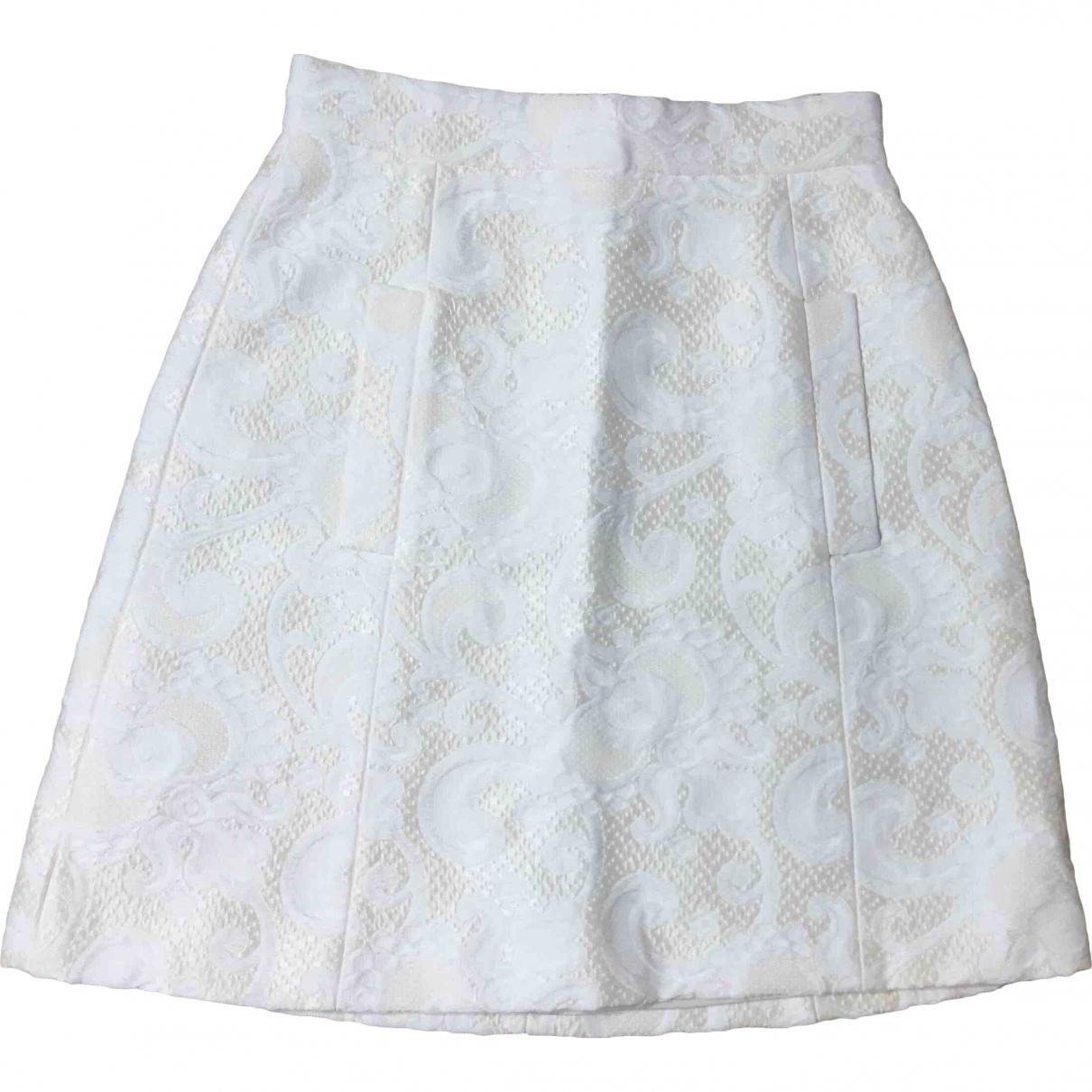 Dolce & Gabbana - Jupe   pour femme en coton - ecru