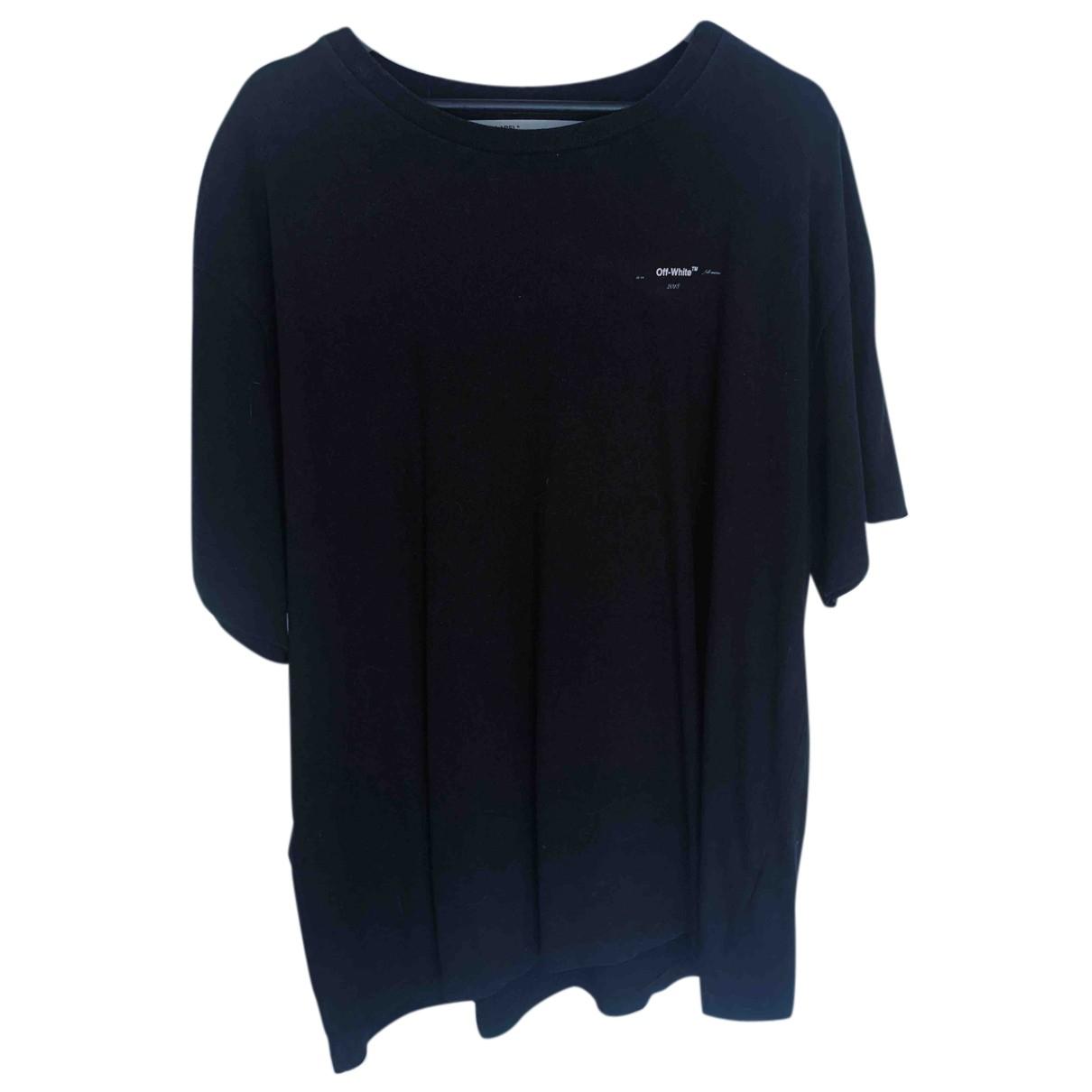 Off-white N Black Cotton T-shirts for Men M International