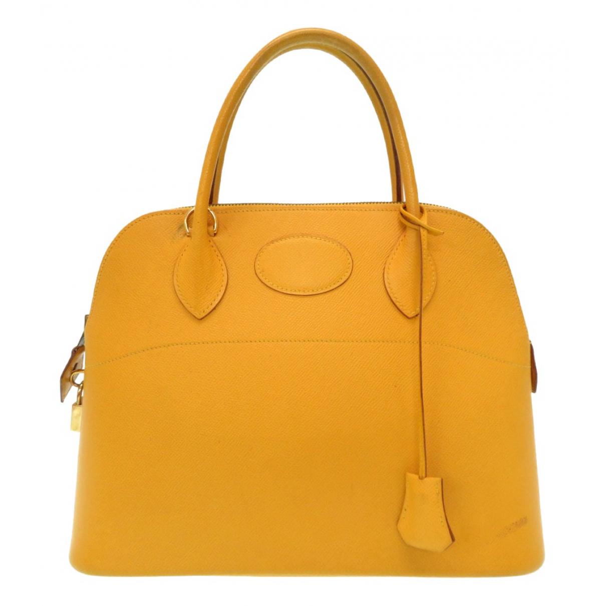 Hermes Bolide Handtasche in  Gelb Leder