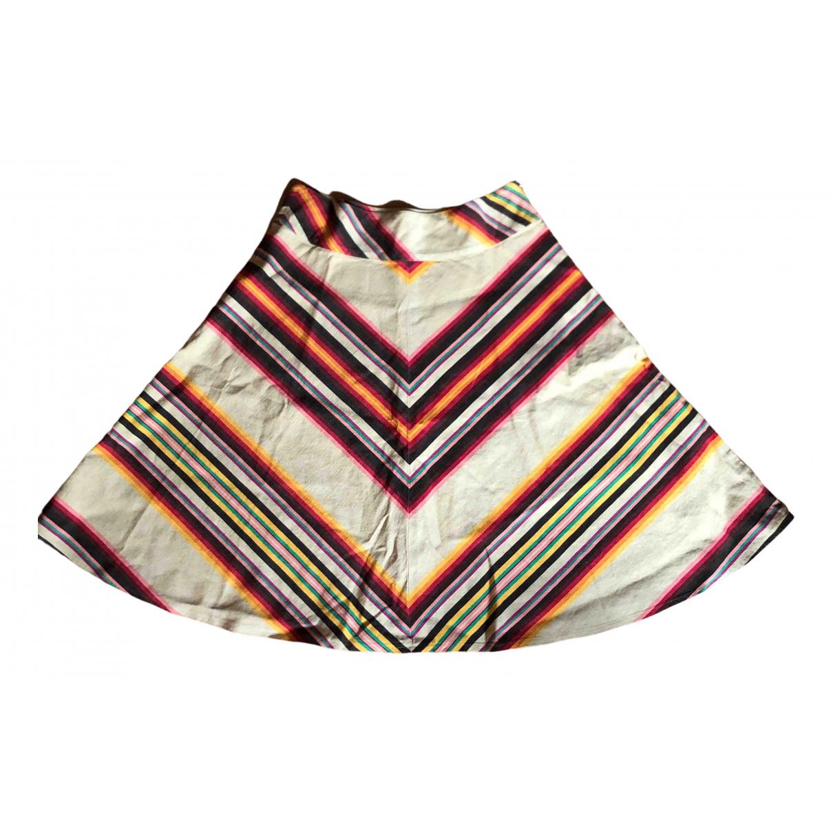 Ralph Lauren - Jupe   pour femme en lin - multicolore