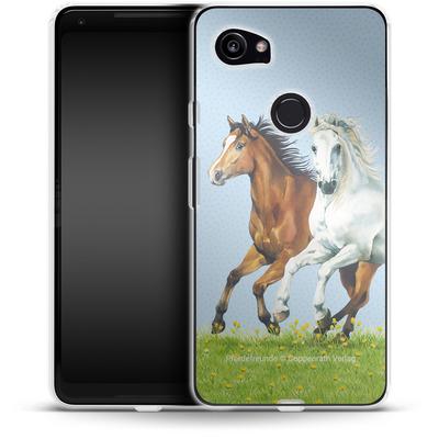 Google Pixel 2 XL Silikon Handyhuelle - Pferdefreunde Ausritt von Pferdefreunde