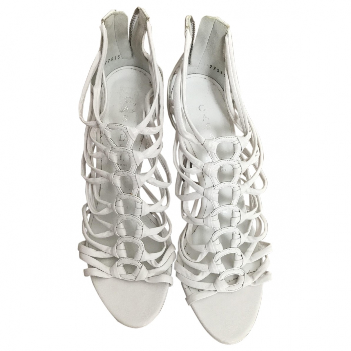 Casadei \N White Leather Sandals for Women 41 EU