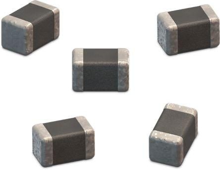 Wurth Elektronik 0402 (1005M) 10pF Multilayer Ceramic Capacitor MLCC 10V dc ±5% SMD 885012005007 (10000)