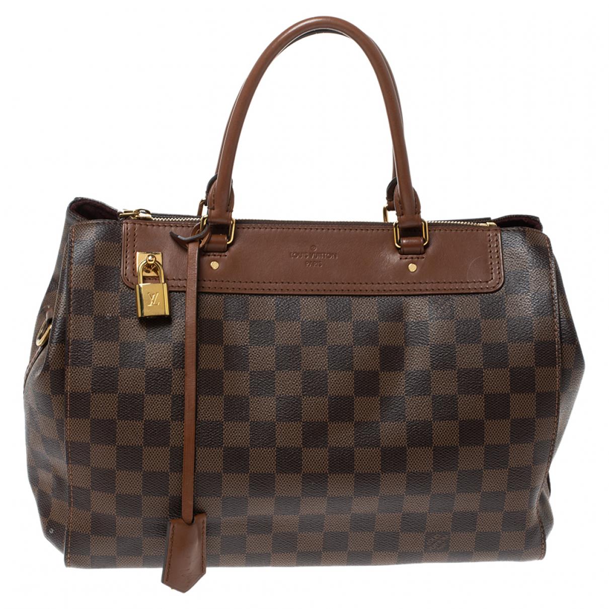 Louis Vuitton - Sac a main Greenwich pour femme en cuir - marron
