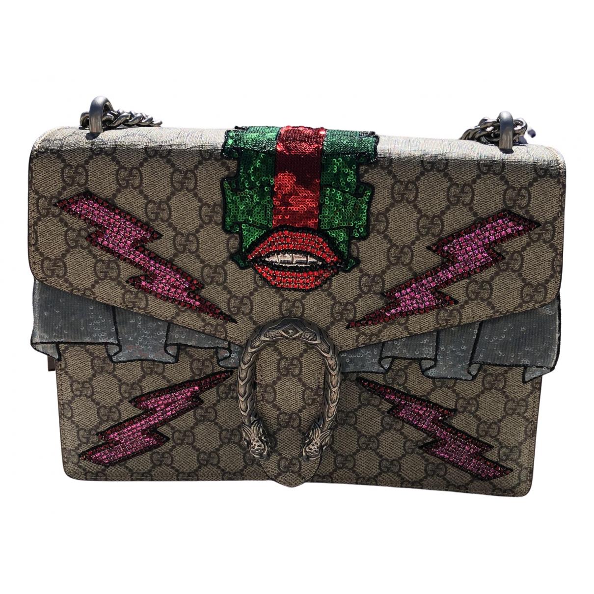 Gucci Dionysus Handtasche in  Beige Leinen