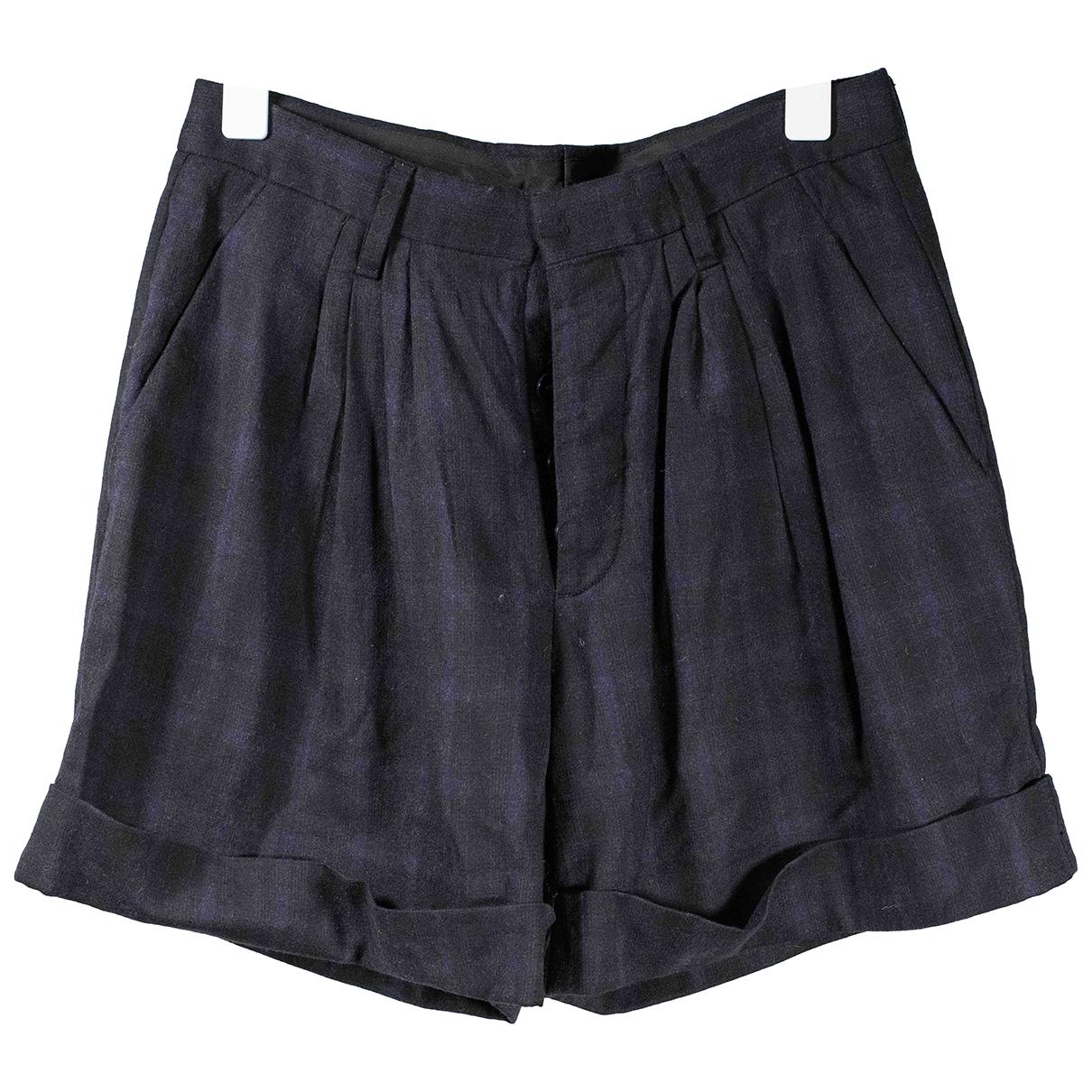 Miu Miu \N Shorts in  Schwarz Wolle