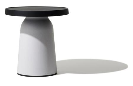 Top Thick TO-1830B-1835EW Thick Top Side Table/High-Black Top & Eco White