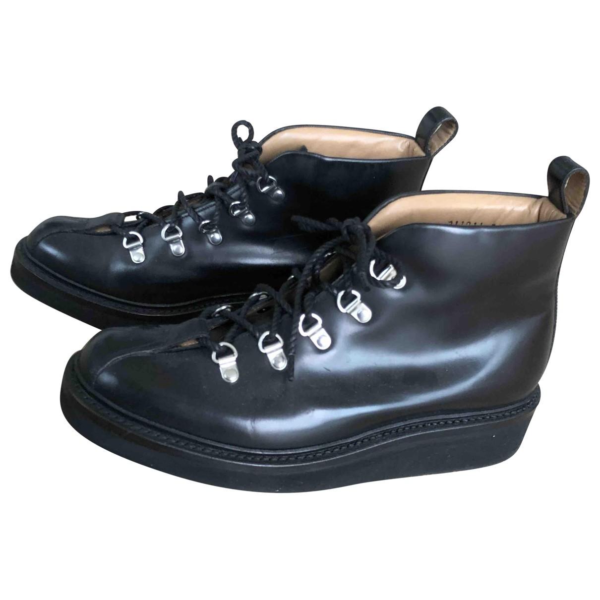 Grenson - Bottes   pour femme en cuir - noir