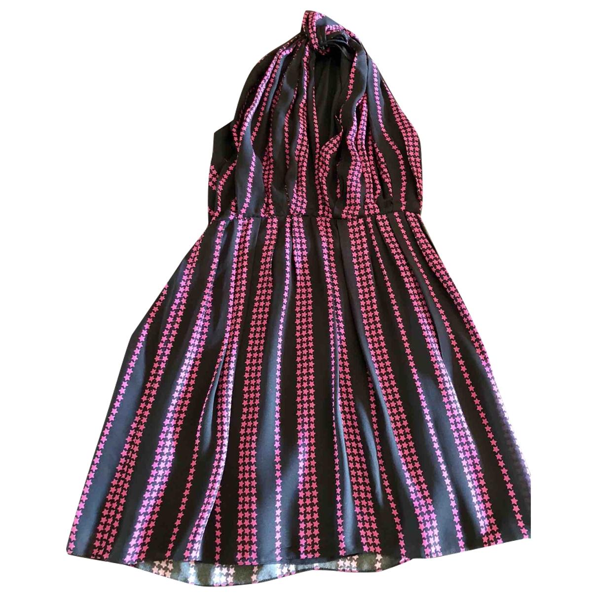 Saint Laurent - Robe   pour femme en soie - multicolore