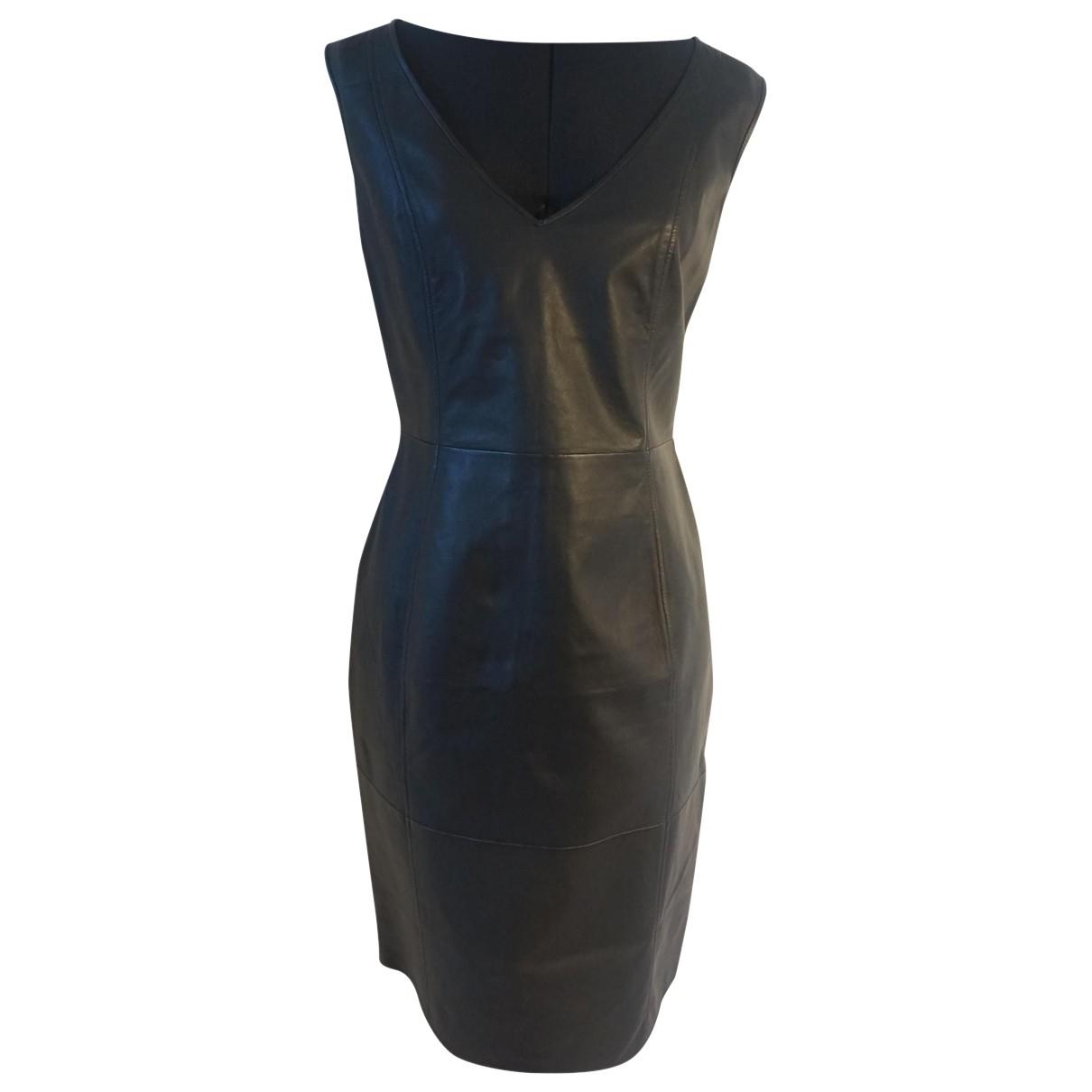 Emporio Armani \N Kleid in  Schwarz Leder