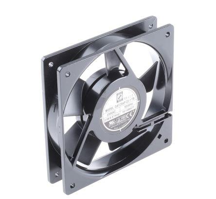RS PRO , 230 V ac, AC Axial Fan, 120 x 120 x 25mm, 127.4m³/h, 14W